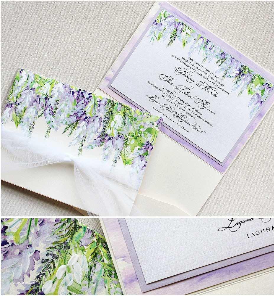 Lavender  Invitations Brittany N Lavender Wisteria