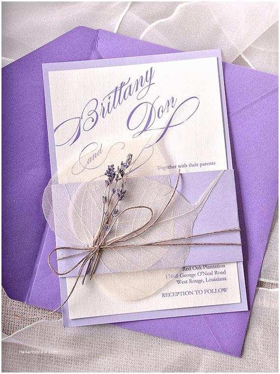 Lavender Wedding Invitations Custom Listing 100 Lavender Wedding Invitations Cards
