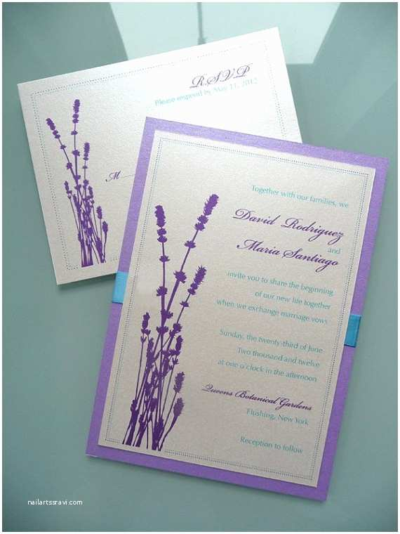 Lavender Wedding Invitations Lavender Silhouette Wedding Invitation Set