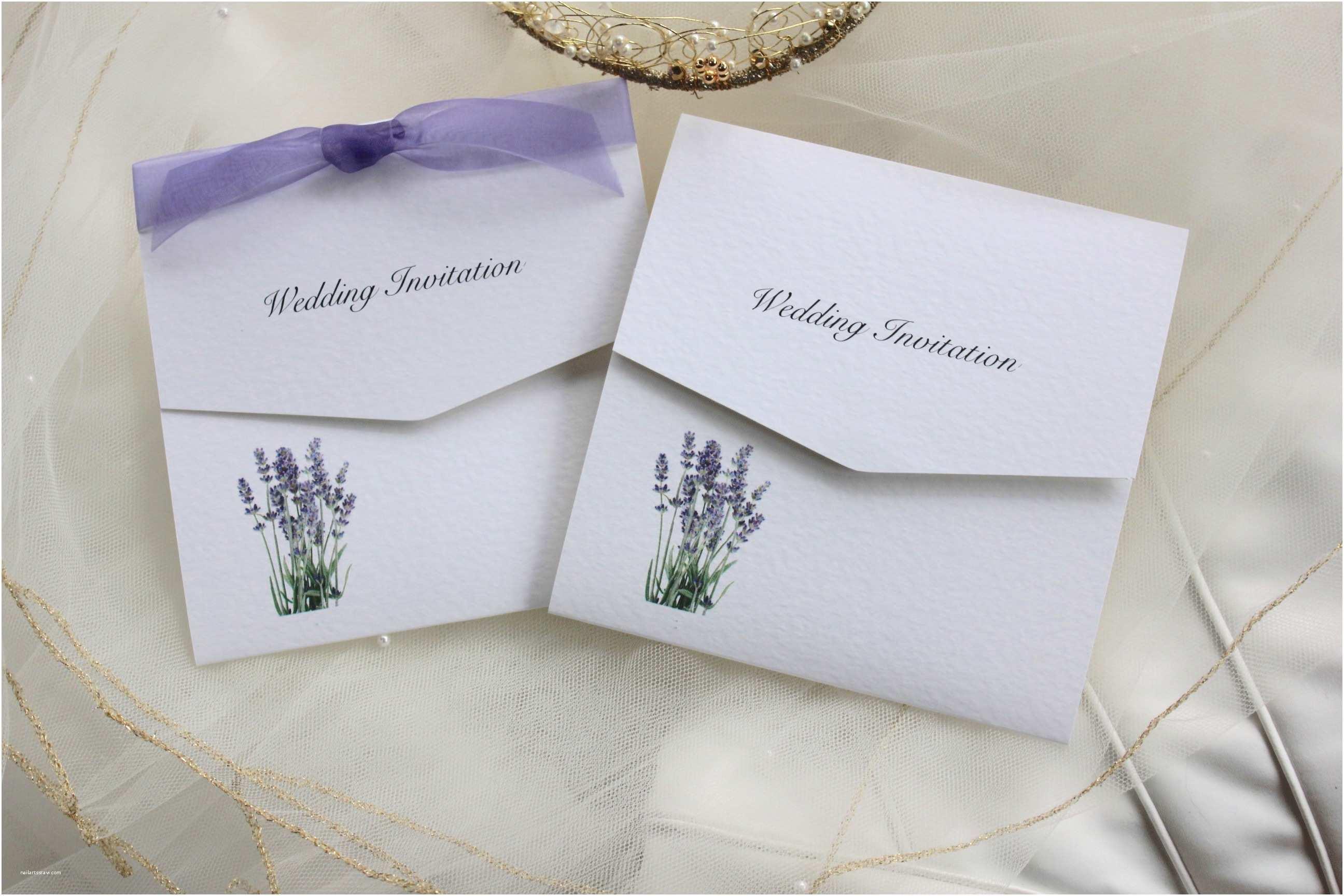 Lavender Wedding  Lavender Tri Fold Wedding