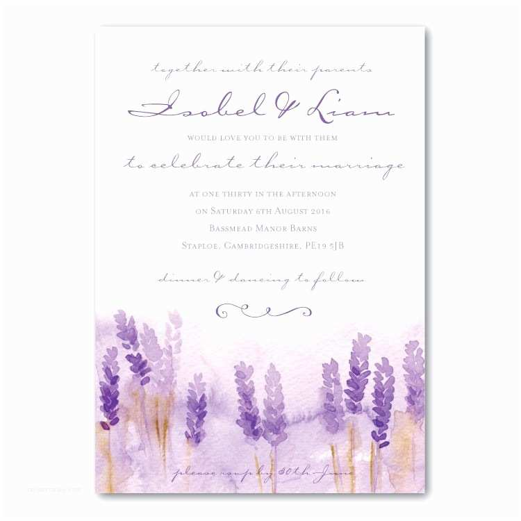 lavandula wedding invitation