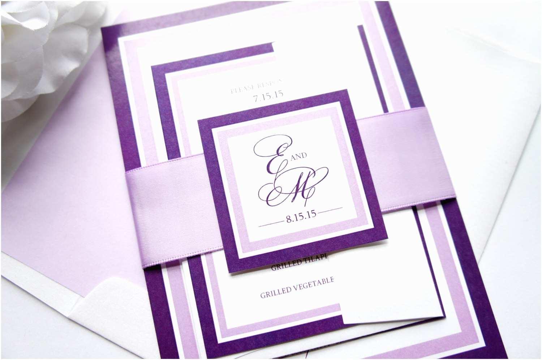 Lavender  Invitations Plum And Lavender  Invitations Purple