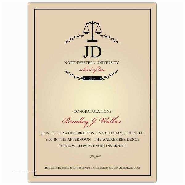 Law School Graduation Invitations 26 Best Law School Graduation Images On Pinterest