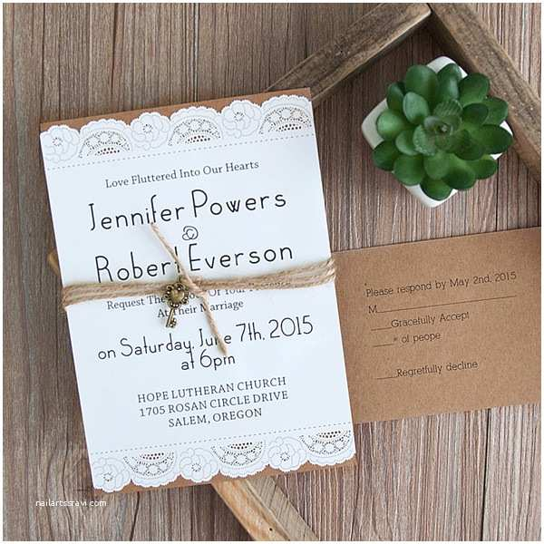 Layered Wedding Invitations Country Graceful Laser Cut Layered Wedding Invites with