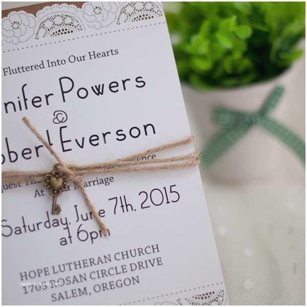 Layered Wedding Invitations Country Graceful Laser Cut Layered Wedding Invites