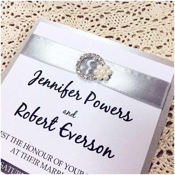 Layered Wedding Invitations Modern Wedding Invitations