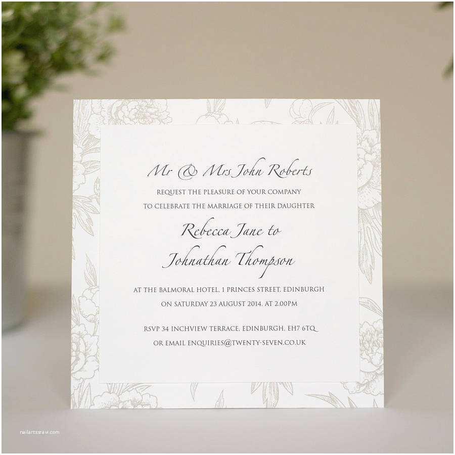 Layered Wedding Invitations Peonies Layered Wedding Invitations By Twenty