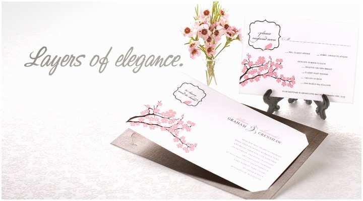 Layered Wedding Invitations Shop Layered Wedding Invitations