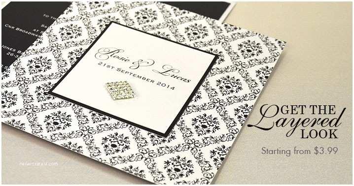 Layered Wedding Invitations Wedding Invitations Line