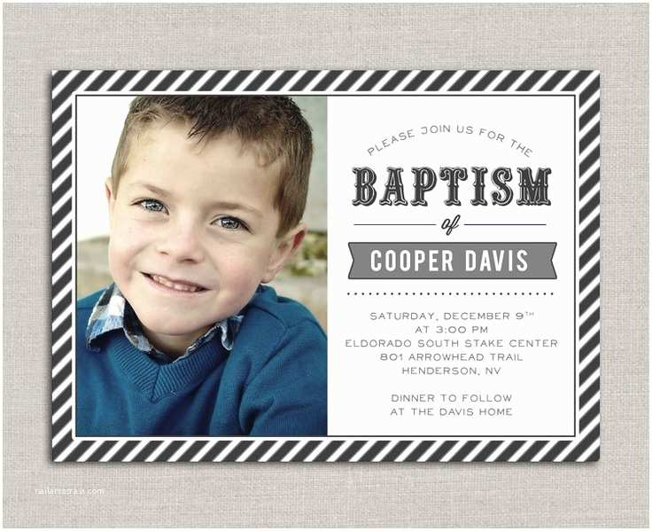 Lds Baptism Invitations Lds Baptism Invitation Cooper