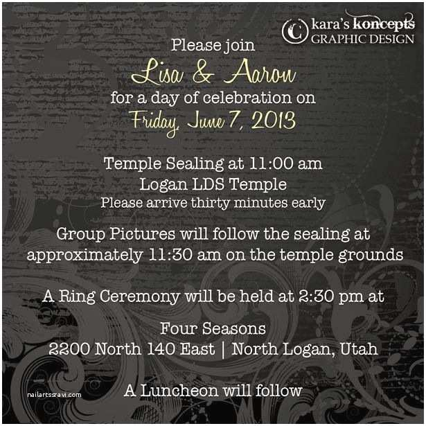 temple invitations