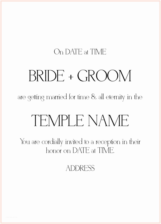 Lds Wedding Invitation Wording 8 Lds Wedding Invitation Wording Samples
