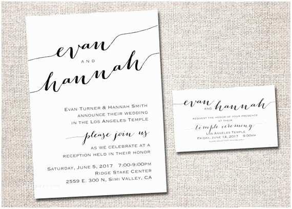 Lds Wedding Invitation Wording Awesome