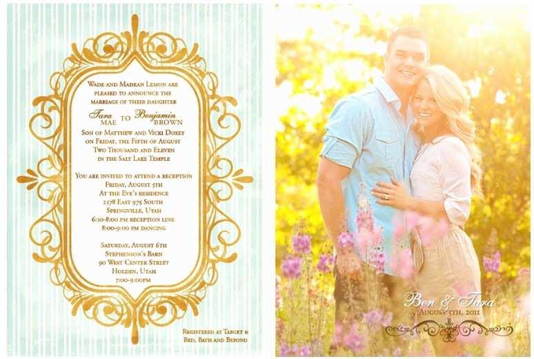 Lds Wedding Invitation Wording Lds Wedding Invitation Wording