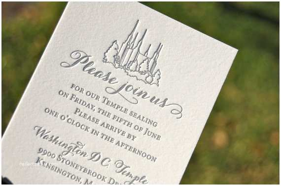 Lds Wedding Invitations Lds Wedding Invitations Letterpress Wedding Invitations