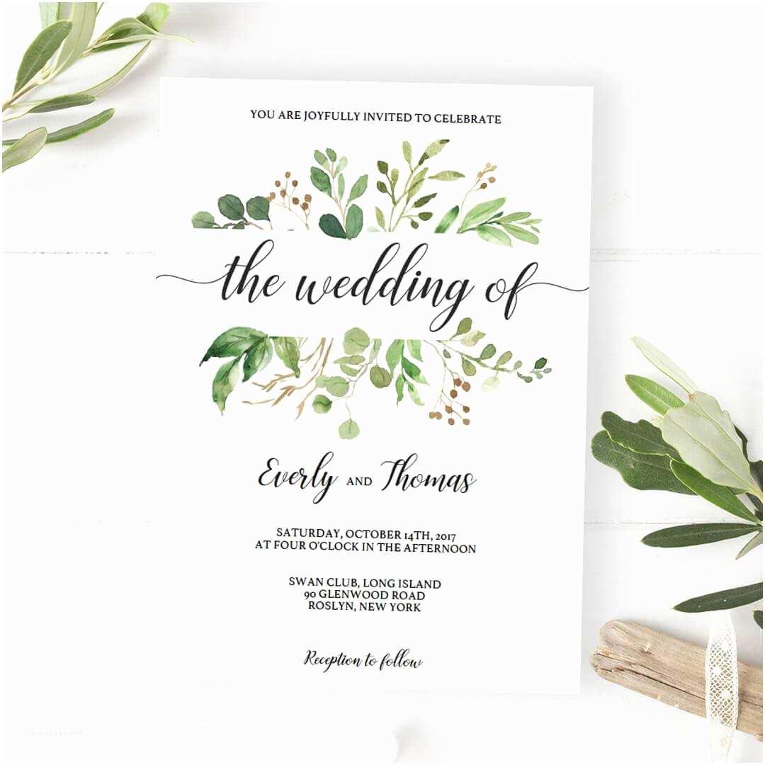 Leaf Wedding Invitations Wedding Invitations Green Yourweek 699a43eca25e