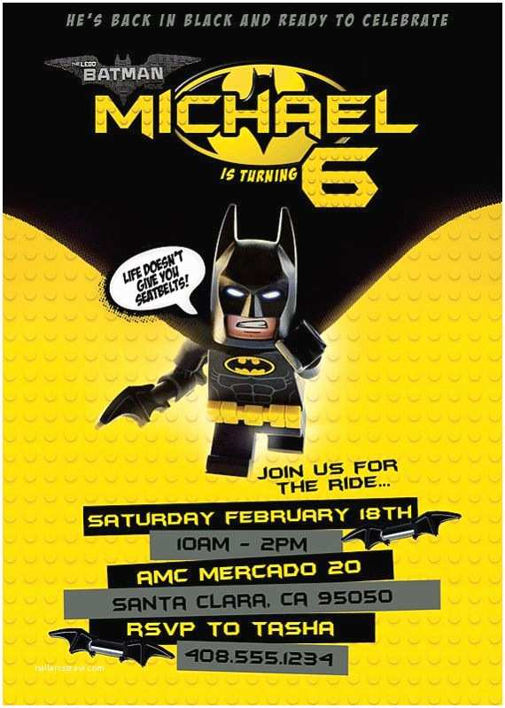 Lego Batman Party Invitations 1000 Ideas About Lego Batman Party On Pinterest