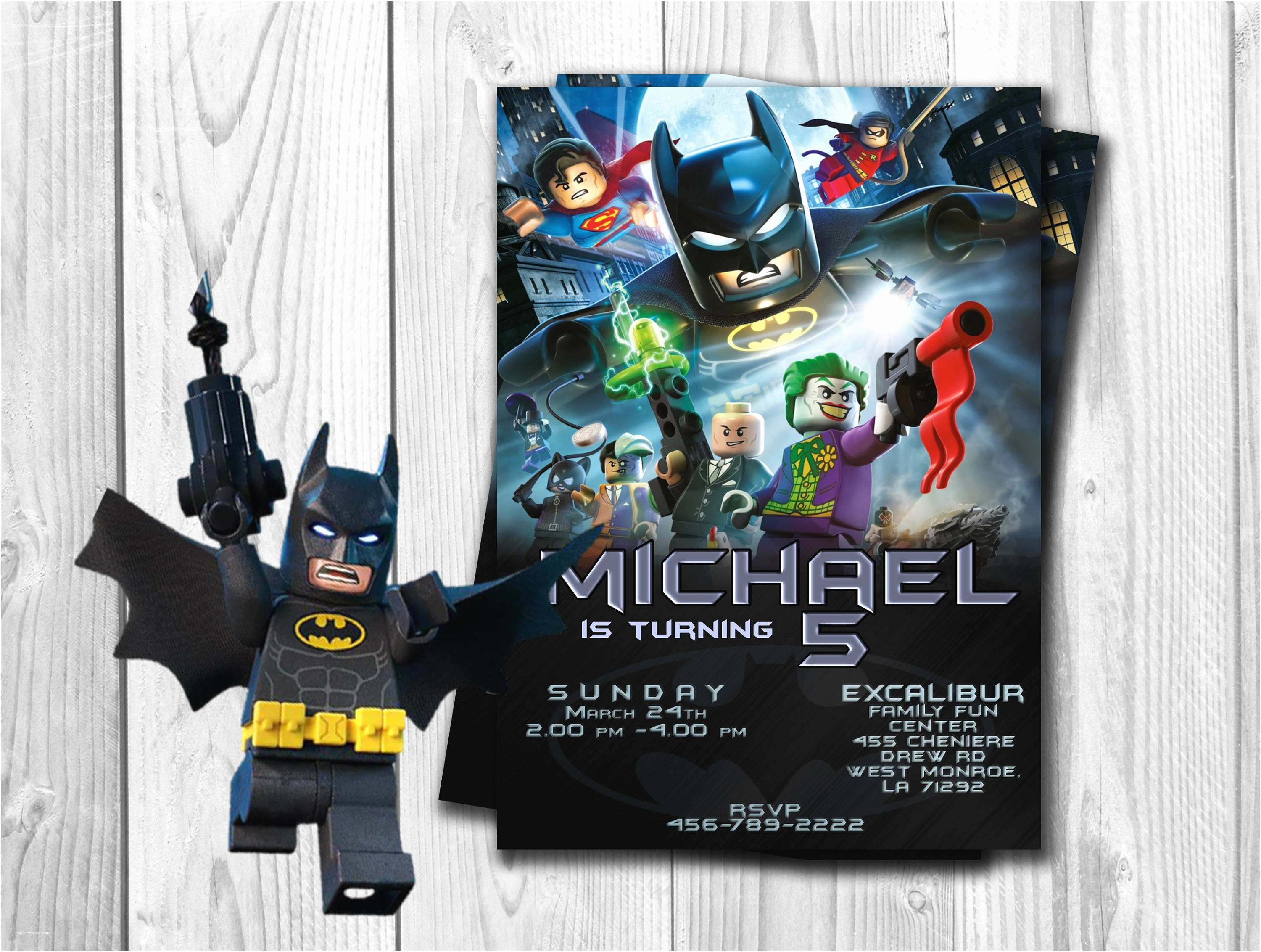 Lego Batman Party Invitations Batman Lego Invitation Batman Lego Birthday Batman Party