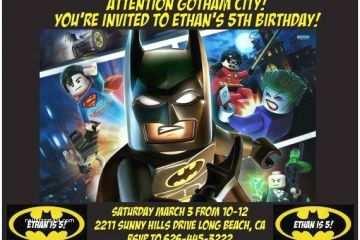 Lego Batman Party Invitations Batman Lego Invitation Design A