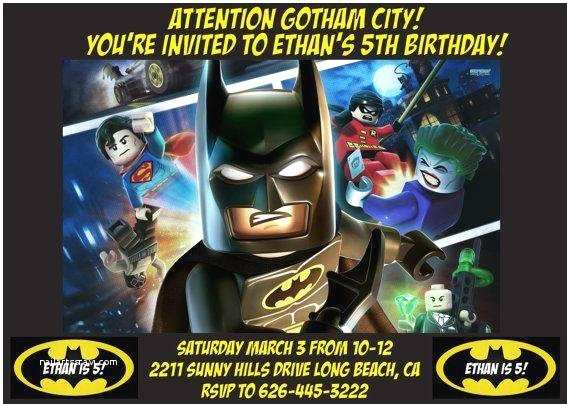 batman lego invitation design