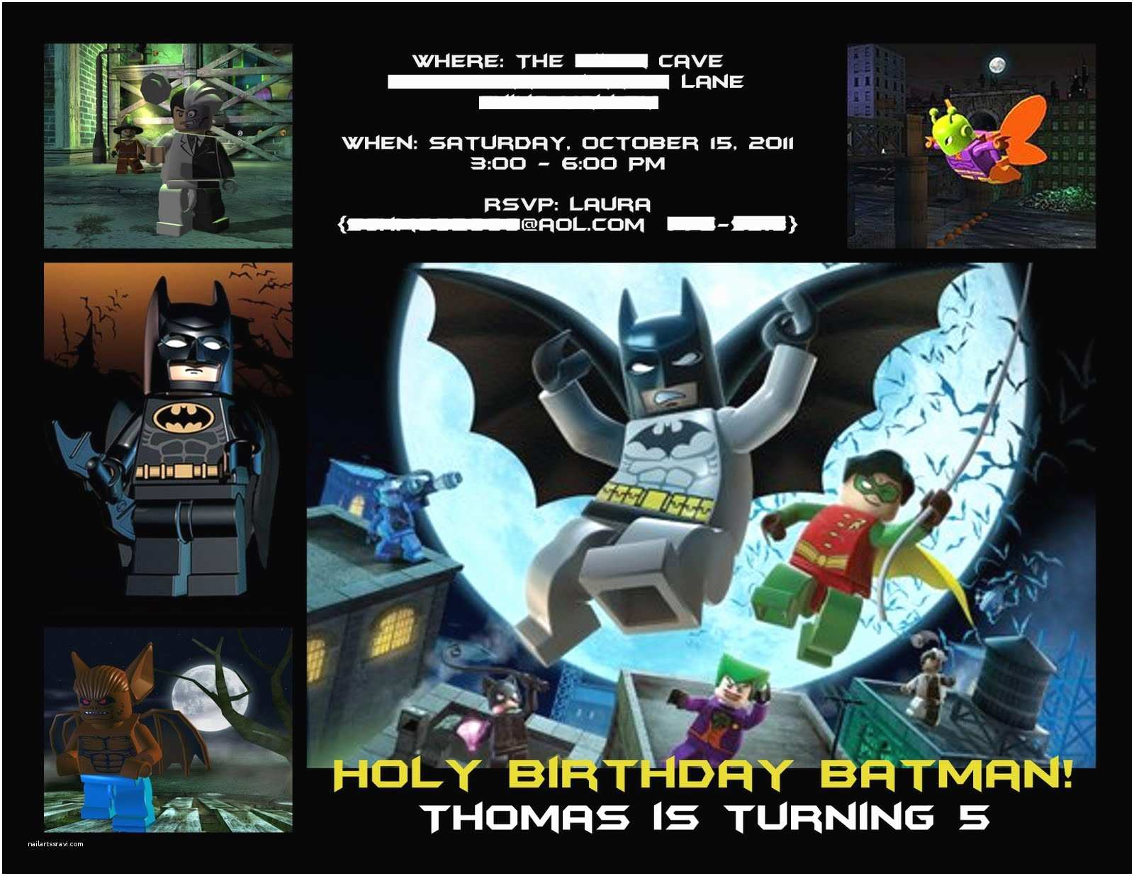 Lego Batman Party Invitations Batman Party Invitation Laura S Crafty Life