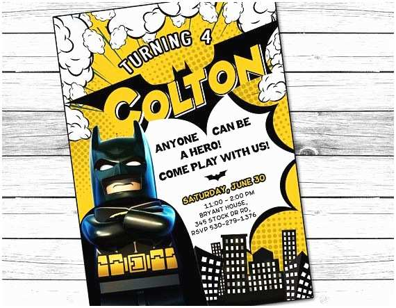 Lego Batman Party Invitations Best 25 Batman Invitations Ideas On Pinterest
