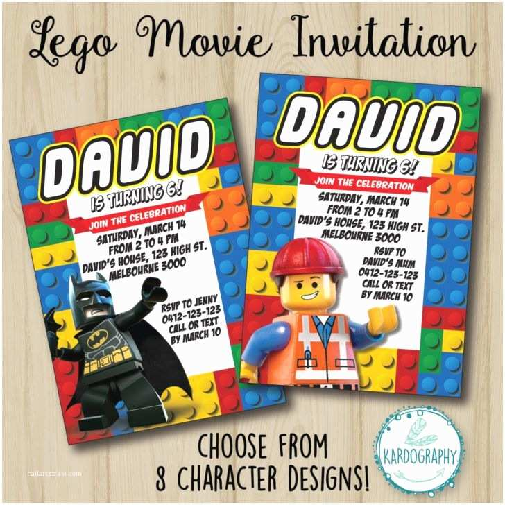 Lego Batman Party Invitations Birthday Lego Movie Invitation Batman Birthday Party