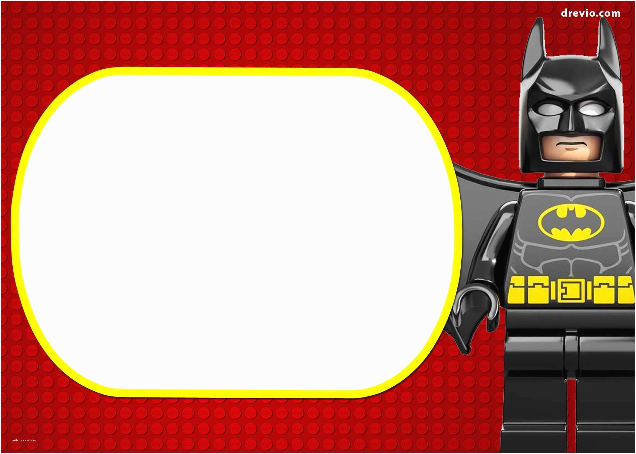 Lego Batman Party Invitations Free Printable Marvel S Lego Invitation
