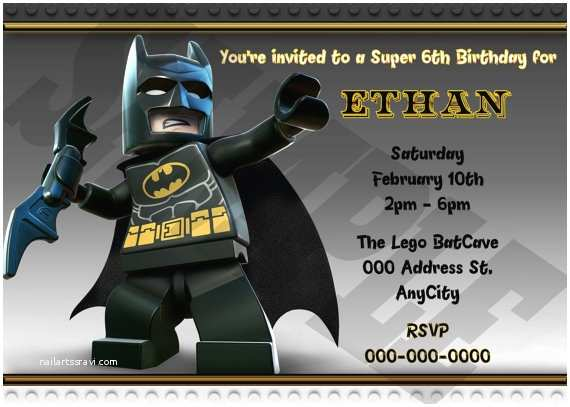 Lego Batman Party Invitations Lego Batman Anniversaire Invitation Imprimable Lego Batman