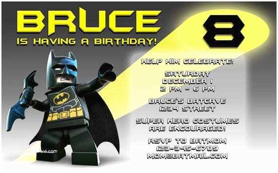 Lego Batman Party Invitations Lego Batman Birthday Invitation Love This Design Legos
