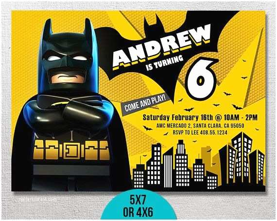 Lego Batman Party Invitations Lego Batman Invitation Lego Batman Birthday Lego Batman