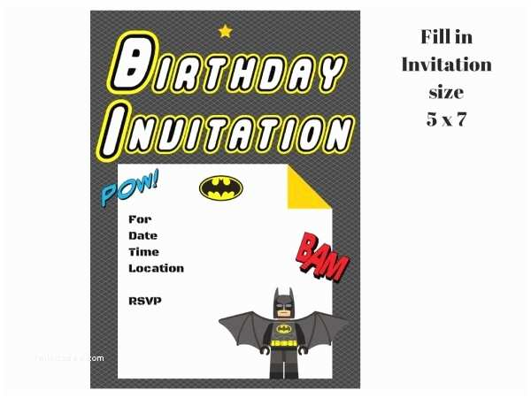 Lego Batman Party Invitations Lego Batman Invitation Magical Printable