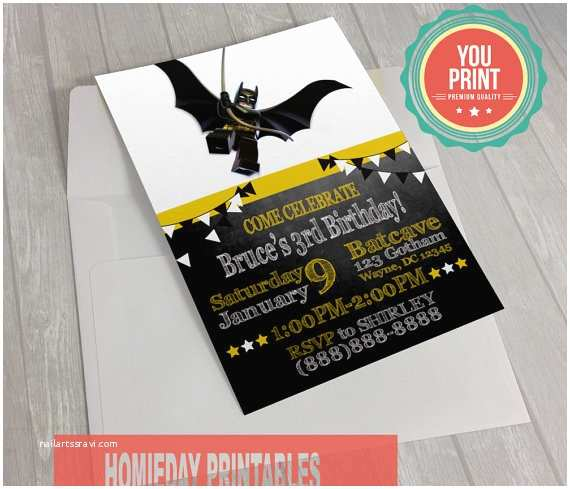 Lego Batman Party Invitations Lego Batman Invitations Batman Lego by Homiedayprintables