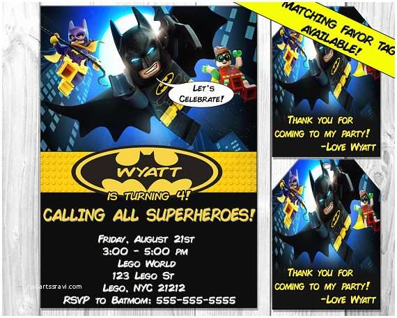 Lego Batman Party Invitations Lego Batman Invitations Lego Batman Invitation Lego Batman