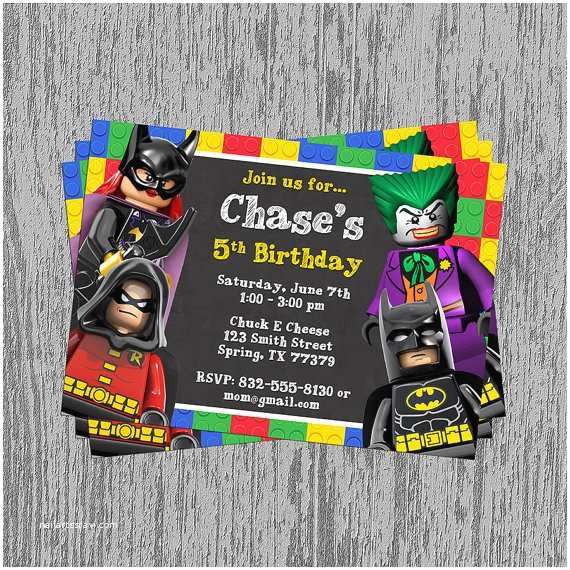 Lego Batman Party Invitations Lego Batman Party Invitations Sansalvaje