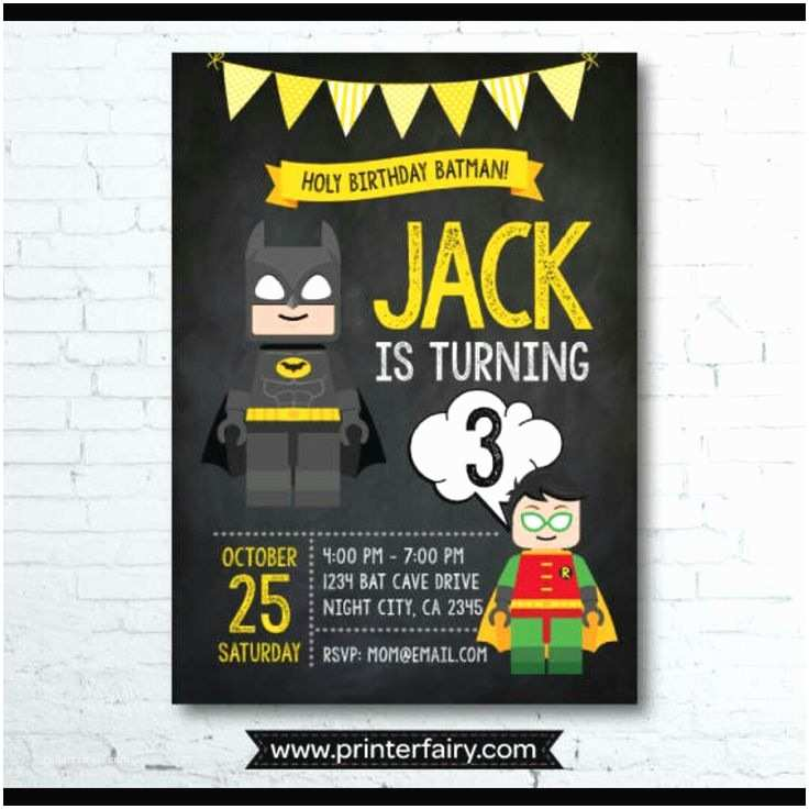 Lego Batman Party Invitations Lego Batman Super Cute Invites Fiesta Pinterest