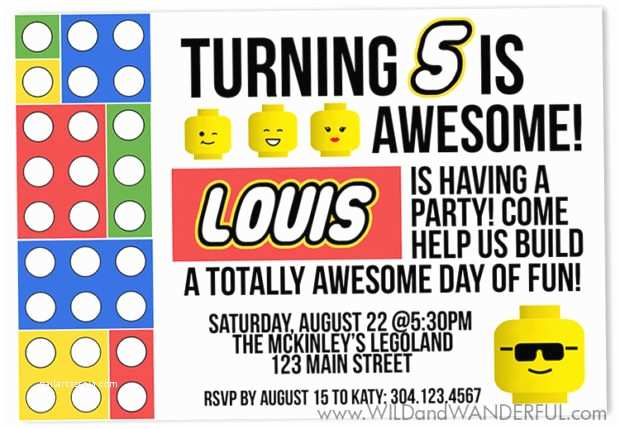 Lego Birthday Invitations An Awesome Party