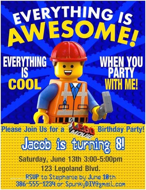 Lego Birthday Invitations Birthday Invitation Templates Lego Birthday Party