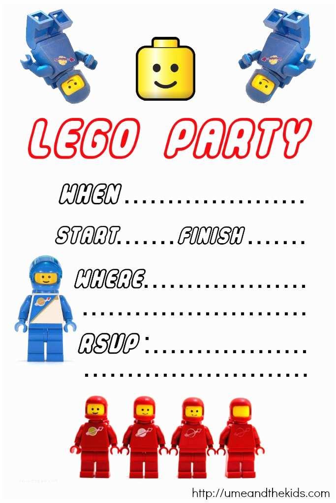 Lego Birthday Invitations Free Printable Lego Birthday Party Invitations U Me and