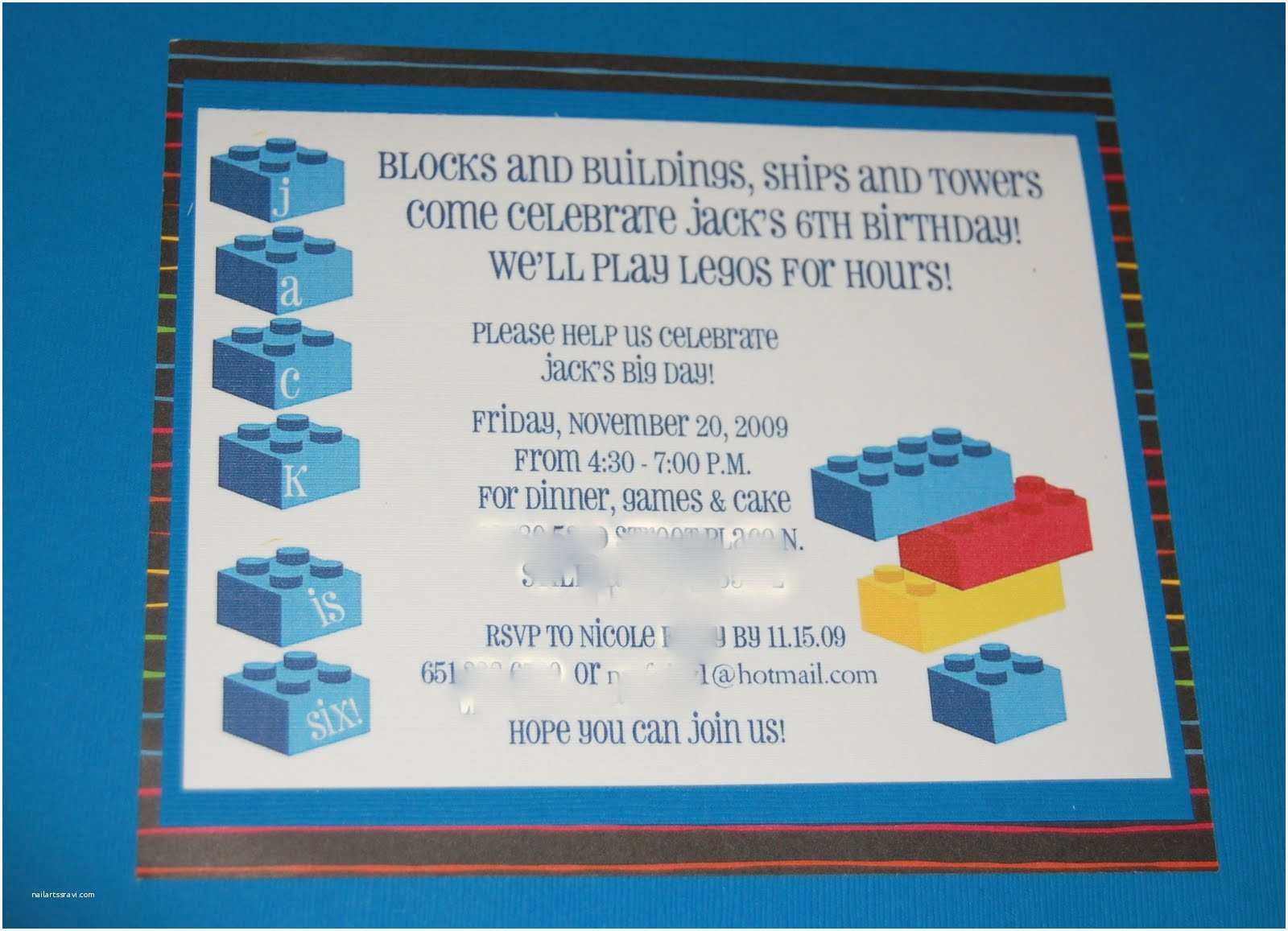Lego Birthday Invitations Launder Fold Repeat Lego Party Invitations and Envelope