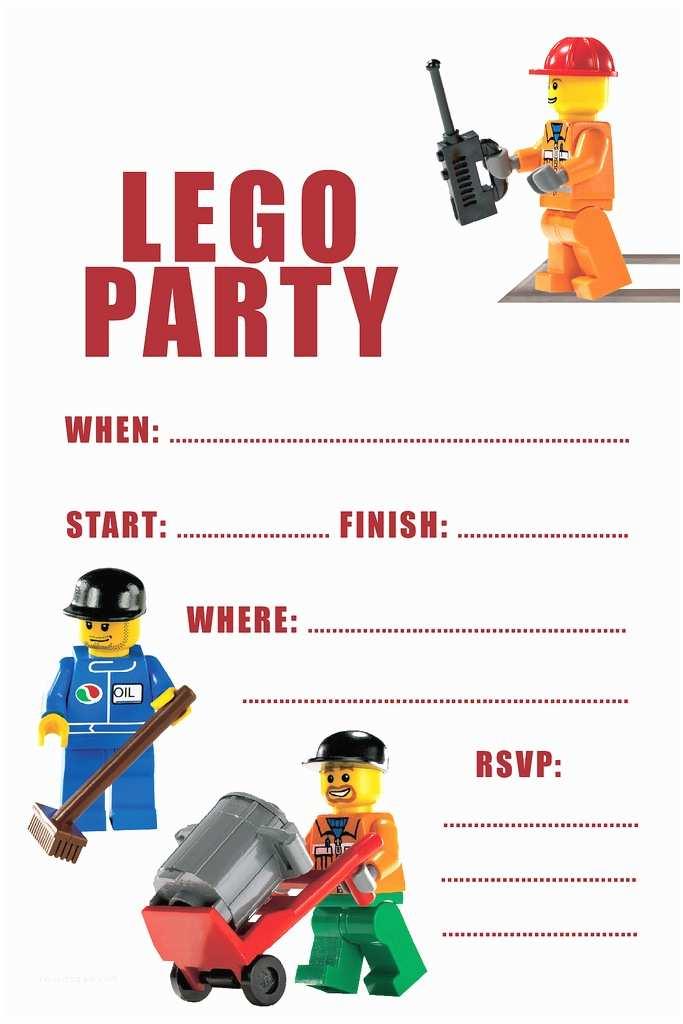 Lego Birthday Invitations Party Invitation Printable