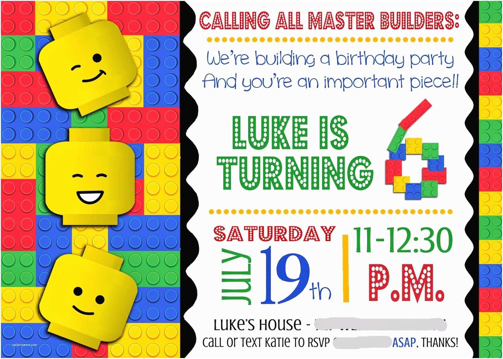 Lego Birthday Invitations Smile Like You Mean It Portfolio