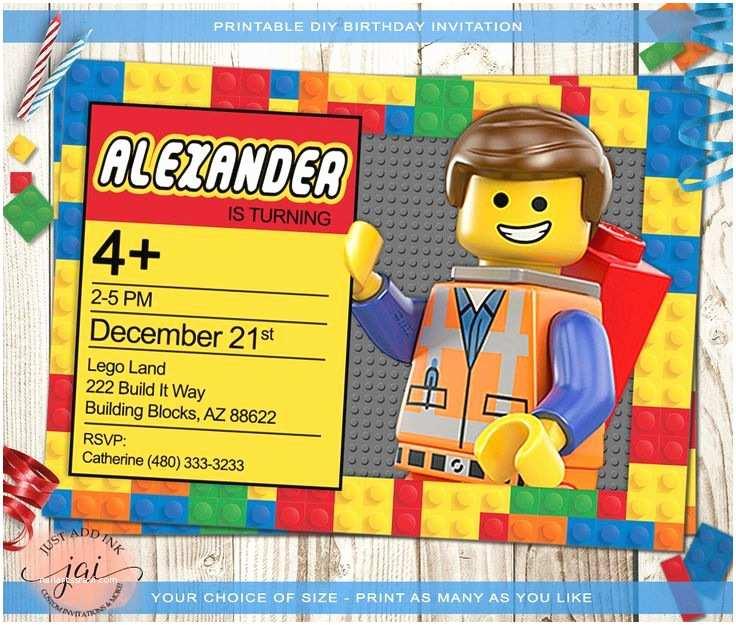 Lego Birthday Party Invitations 17 Best Ideas About Lego Birthday Invitations On Pinterest