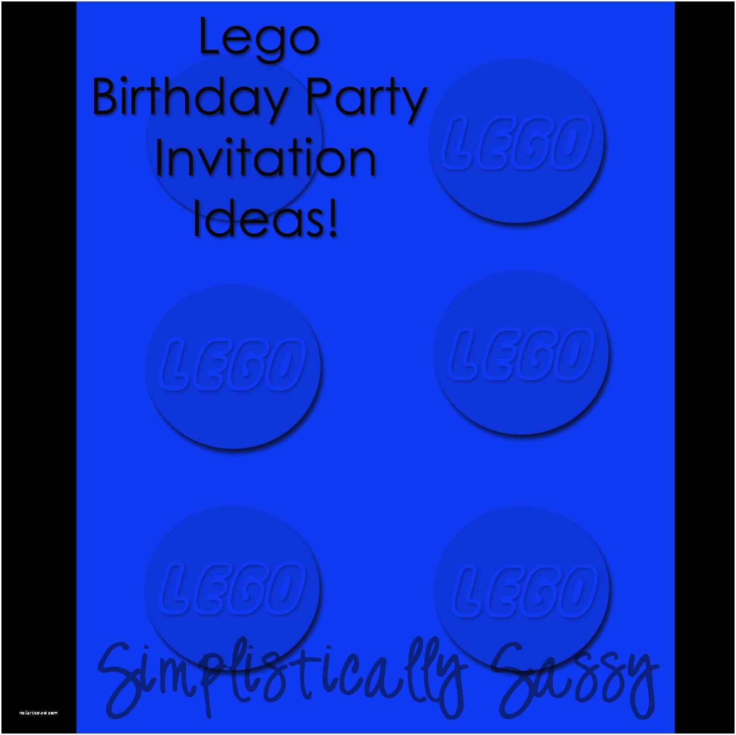 Lego Birthday Party Invitations Lego Birthday Party Invitations by Simplistically Sassy