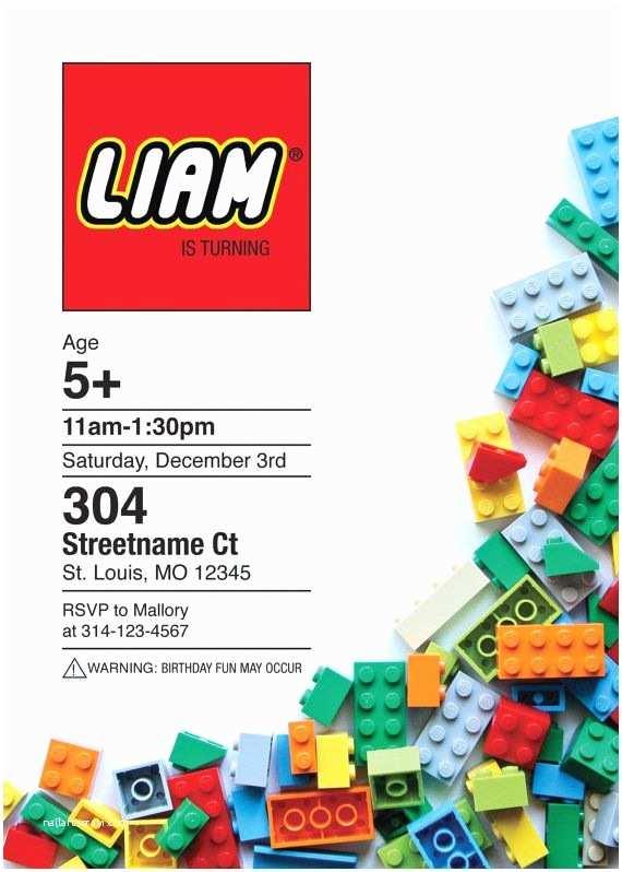 Lego Birthday Party Invitations top 25 Best Lego Birthday Invitations Ideas On Pinterest
