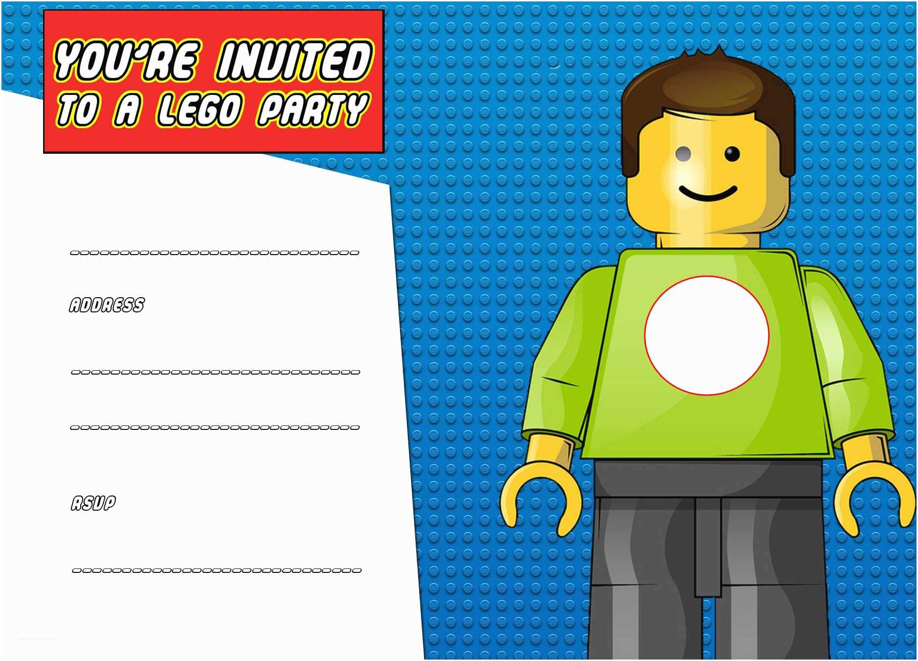 Lego Party Invitations Free Printable Birthday Invitation Template