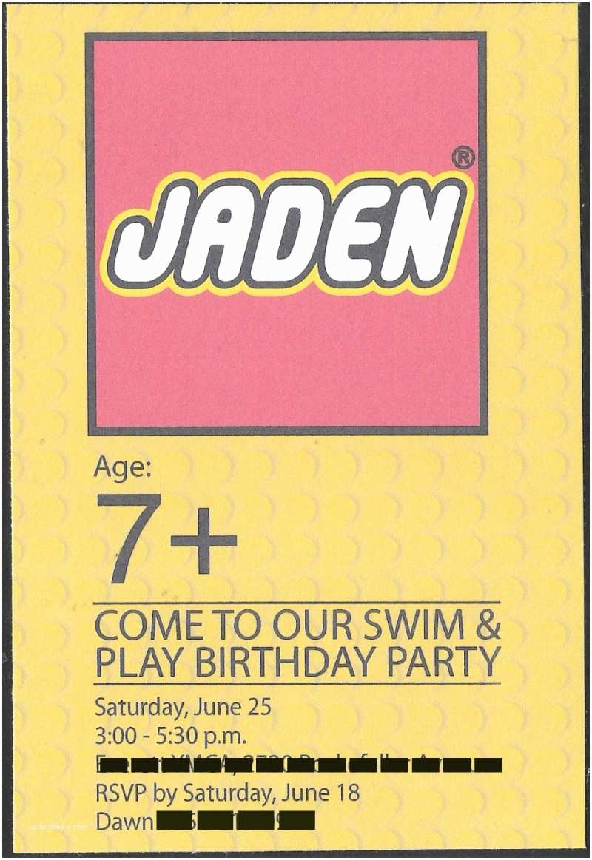 Lego Party Invitations Fun and Unique Invitation & Party Favor Ideas Featuring