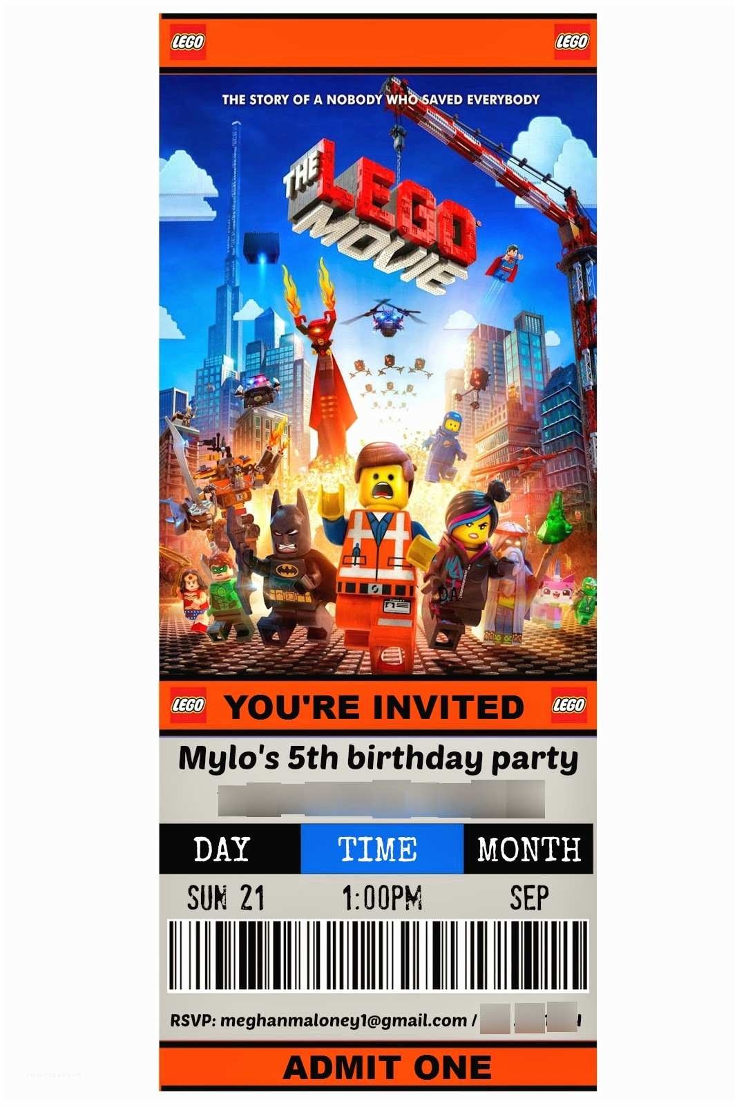 Lego Party Invitations How to the Ultimate Lego Movie theme Party Ideas and