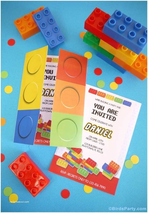 Lego Party Invitations Kids Party Ideas