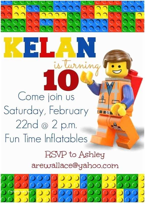 Lego Party Invitations Lego Movie Party Invitations Lego Movie Party Invitation